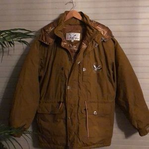 Brown Triple Fat Goose Down Coat